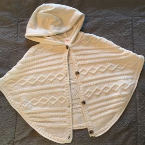 Adorable cable knit poncho
